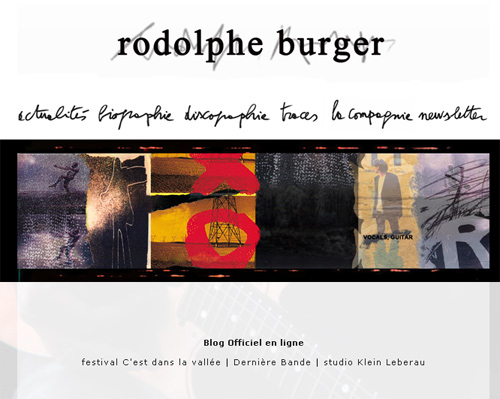rodolphe burger1 Un nouveau site pour Rodolphe Burger