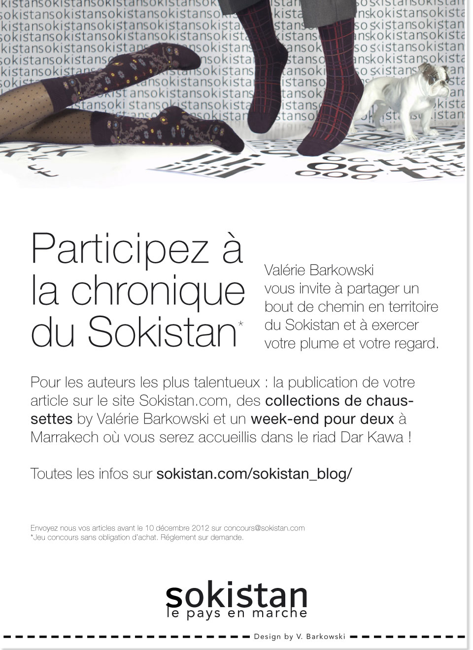 sokistan flyer concours web Jeu concours Sokistan / Dar Kawa