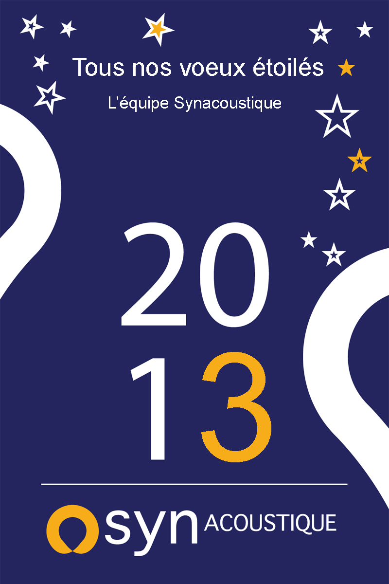 synacoustique voeux 2013 Synacoustique : cap sur 2013