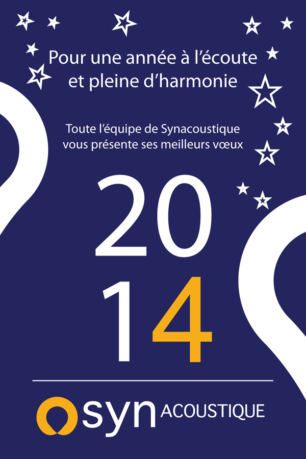 voeux 2014 synacoustique600 Synacoustique : cap sur 2014
